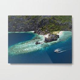 Island hopping around the Philippine Islands Metal Print