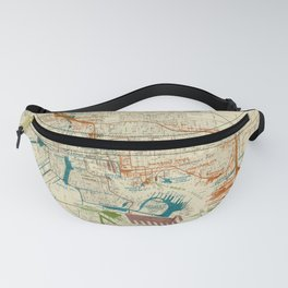 Vintage Baltimore MD Railroad Map (1922) Fanny Pack