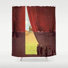 Hope Beyond the War Shower Curtain