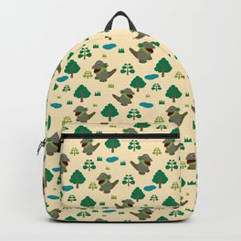 Moccomerian pattern Backpack