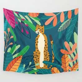 Cheetah chilling in the wild Wall Tapestry