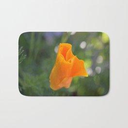 Orange California Poppy, Eschscholzia californica, Flower Bath Mat
