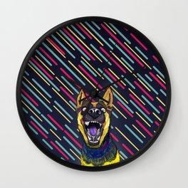 Canine Psychodelia Wall Clock