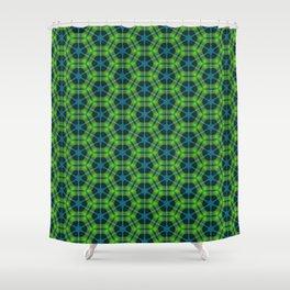 Neon Flux 02 Shower Curtain