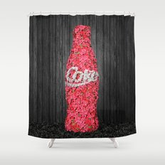 Flower Coke Shower Curtain