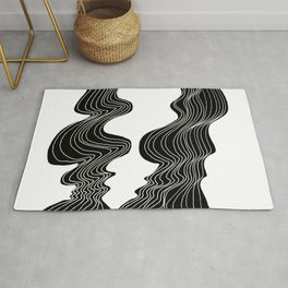 Parallel Lines No.: 02. - White Lines Rug