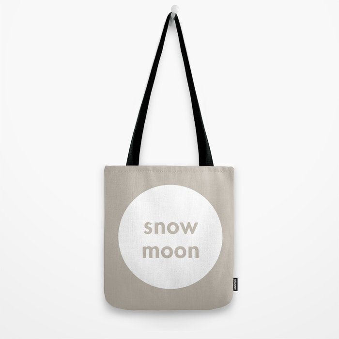 Snow Moon Tote Bag