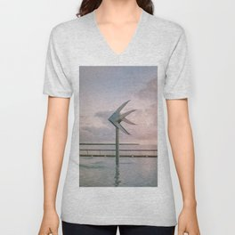 Cairns Woven Fish Sculpture (Single) | Cairns Australia Ocean Sunrise Travel Photography Unisex V-Neck