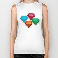 diamonds Biker Tanks featuring Diamonds by Andrew Leif Hanssen