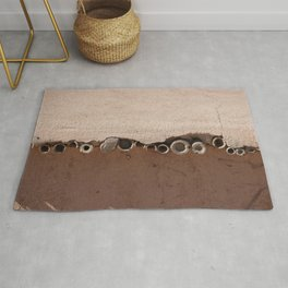 rotated rustic roof Rug