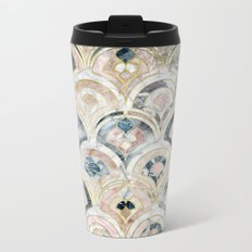 Art Deco Marble Tiles in Soft Pastels Metal Travel Mug