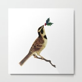 ChristmasBird Metal Print