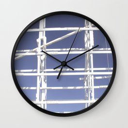 Wooden roller coaster Wall Clock