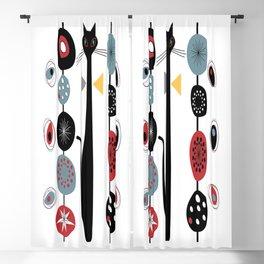 Mid-Century Modern Art Cat 1.7T Blackout Curtain