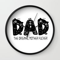 dad Wall Clocks featuring Dad by Jessa