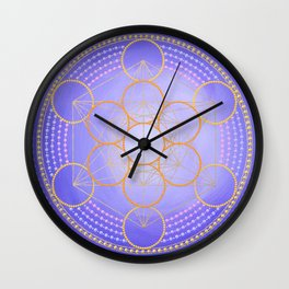 Metatron's cube painting on canvas Wall Clock