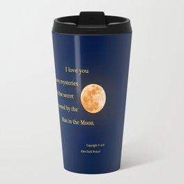 """January Blue Moon"" with poem: Any Mysteries Travel Mug"