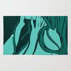 green mermaid Rug