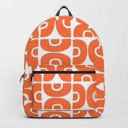 Groovy Mid Century Modern Pattern Orange Backpack