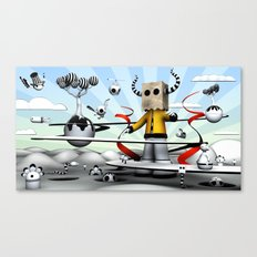 The Paparbag Monster Canvas Print