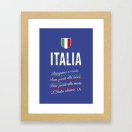 Il Canto Degli Italiani (Italian National Anthem) Framed Art Print