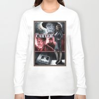 agent carter Long Sleeve T-shirts featuring Agent Carter Color by rnlaing