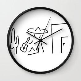 Mexican South America sombrero Wall Clock