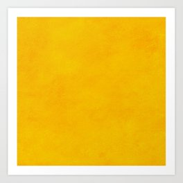 yellow curry mustard color trend plain texture Art Print
