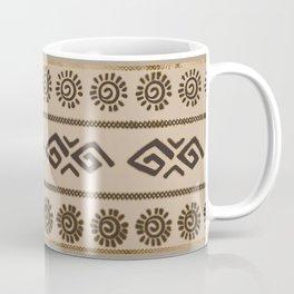 Aztec Tribal Pattern Beige and Gold Coffee Mug