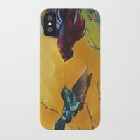 foo fighters iPhone & iPod Cases featuring The Fighters by Kathy Webber