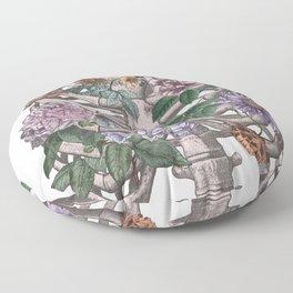 flowering ribs Floor Pillow