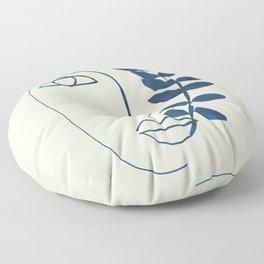 Abstract Face 5 Floor Pillow