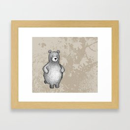 grizzly bear in foliage Framed Art Print