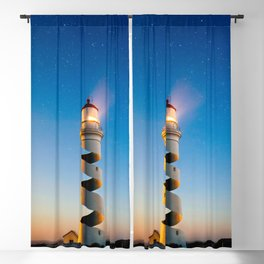 Twisted Lighthouse Blackout Curtain