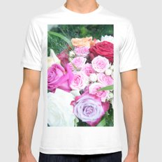 A Sea Of Roses #1 #decor #art #society6 MEDIUM Mens Fitted Tee White