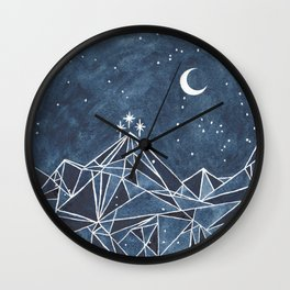 Night Court moon and stars Wall Clock
