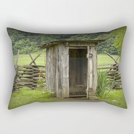 Old Outhouse on a Farm in the Smokey Mountains Rectangular Pillow