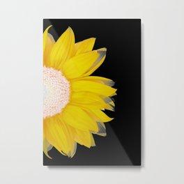 portrait of summer - yellow black Metal Print
