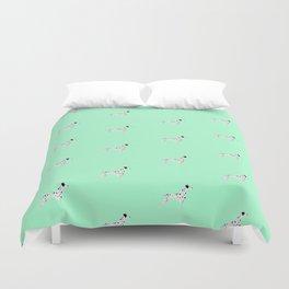 DALMATIANS ((seafoam green)) Duvet Cover