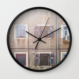 Typical house in Pula Wall Clock
