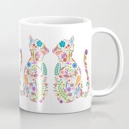 Fancy And Fine Flowered Cat Garden Design Coffee Mug