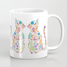 Fancy And Fine Flowered Cat Garden Design Coffee Mug