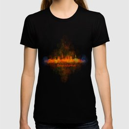 Barcelona City Skyline Hq _v4 T-shirt