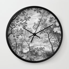 Landscape with Judah and Tamar Wall Clock