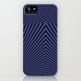 Navy and Gold Stripes 6 by LH iPhone Case