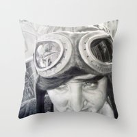 aviation Throw Pillows featuring Aviation Dreams by Arden Jenner
