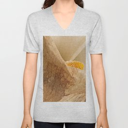 Withered Calla Lily Flower Macro Unisex V-Neck