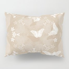 Dreamy butterflies and mandala in iced coffee Pillow Sham