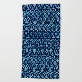 Mya Watercolor - Blue Beach Towel