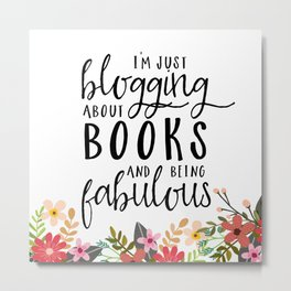Blogging About Books Metal Print